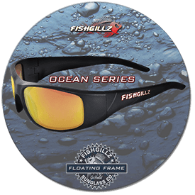 Ocean series of floating polarized sunglasses for sports fishermen, boaters and more