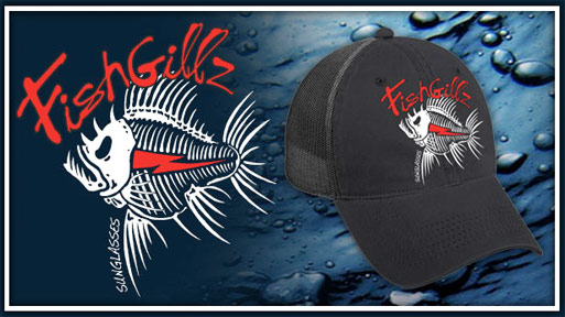 tee shirt and apparel line from Fishgillz includes Hoodies and trucker caps